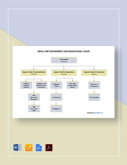 Small Fire Department Organizational Chart