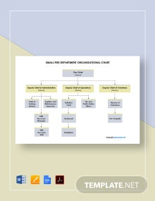 Free Small Fire Department Organizational Chart Template