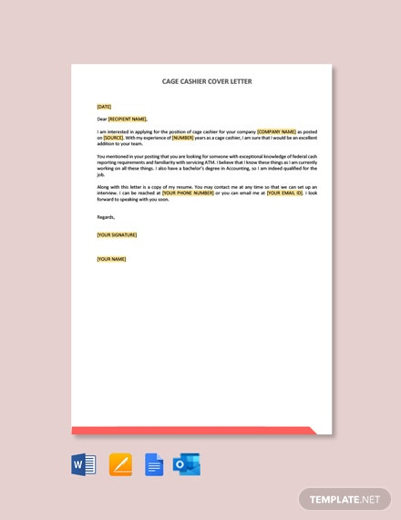 Cage Cashier Cover Letter Template Free Pdf Google Docs Word Template Net