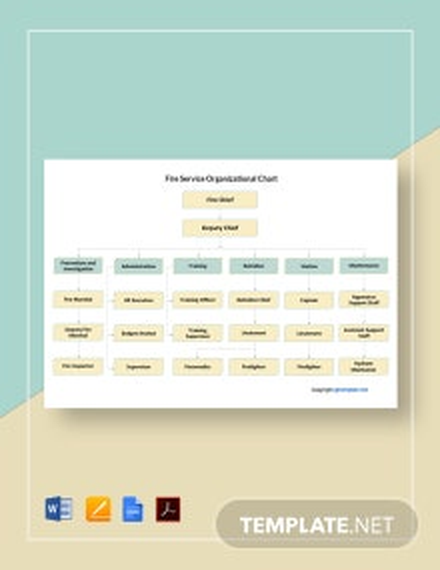 Free Fire Service Organizational Chart Template