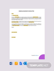 Free Staff Accountant Cover Letter Template