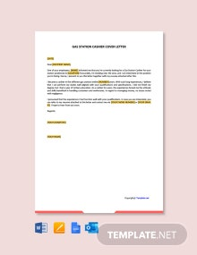 Free Gas Station Cashier Cover Letter Template