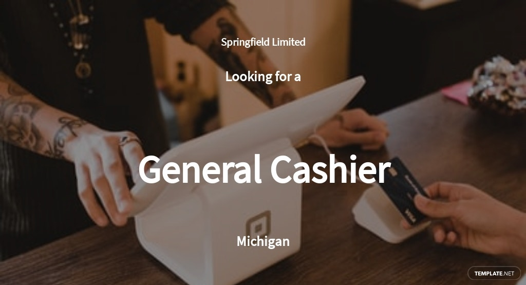 General Cashier Job Ad/Description Template