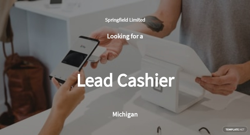 Lead Cashier Job Ad/Description Template
