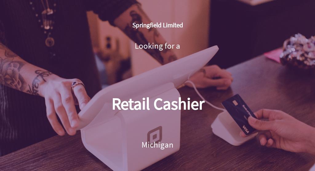 Retail Cashier Job Description Template