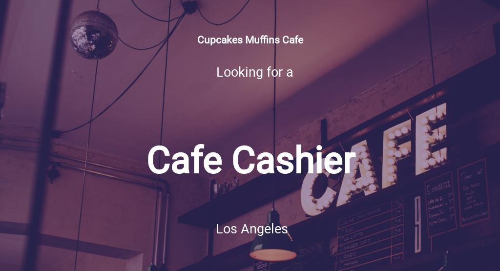 Cafe Cashier Job Description Template
