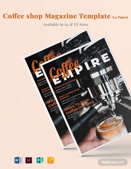 Coffee Shop Magazine Template