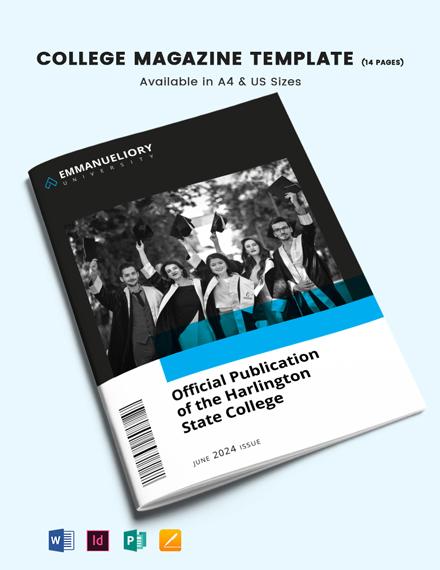 College Magazine Template