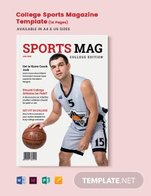 College Sports Magazine Template