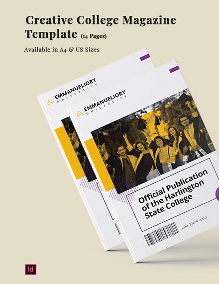 Creative College Magazine Template