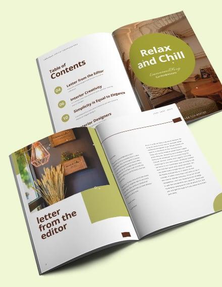 Creative Interior Design Magazine Template