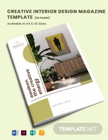 Creative Interior Design Magazine Template