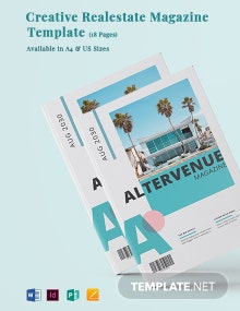 Creative Real Estate Magazine Template