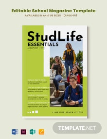 Editable School Magazine Template