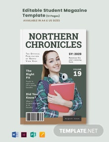 Editable Student Magazine Template
