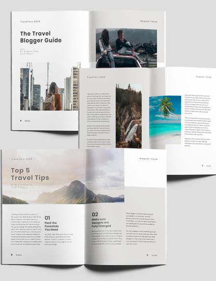 Editable Travel Magazine Download