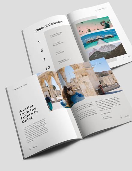 Editable Travel Magazine Template