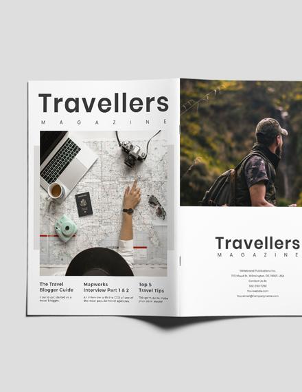 Sample Editable Travel Magazine