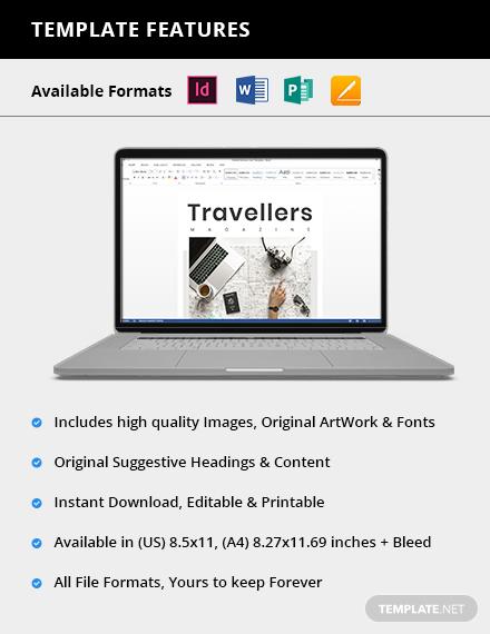 Simple Editable Travel Magazine