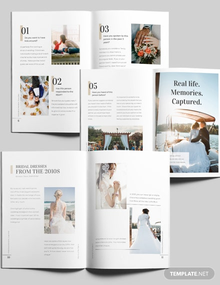 Editable Wedding Magazine Download