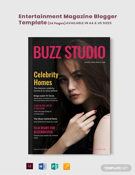Entertainment Magazine Blogger Template