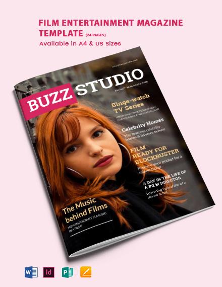 Film Entertainment Magazine Template