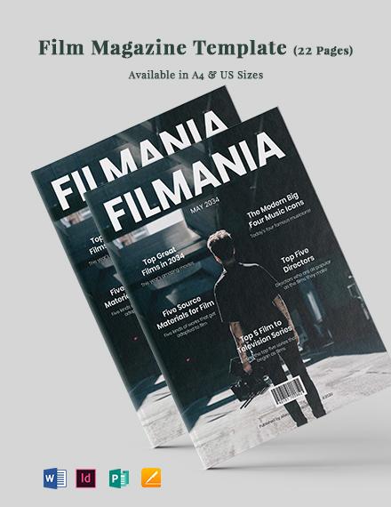 Film Magazine Template
