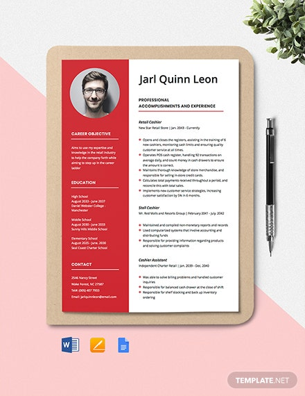 Target Cashier Resume Template