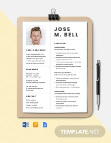 Retail Cashier Resume Template