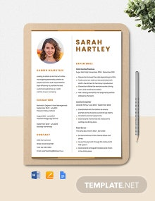 Cafe Cashier Resume Template