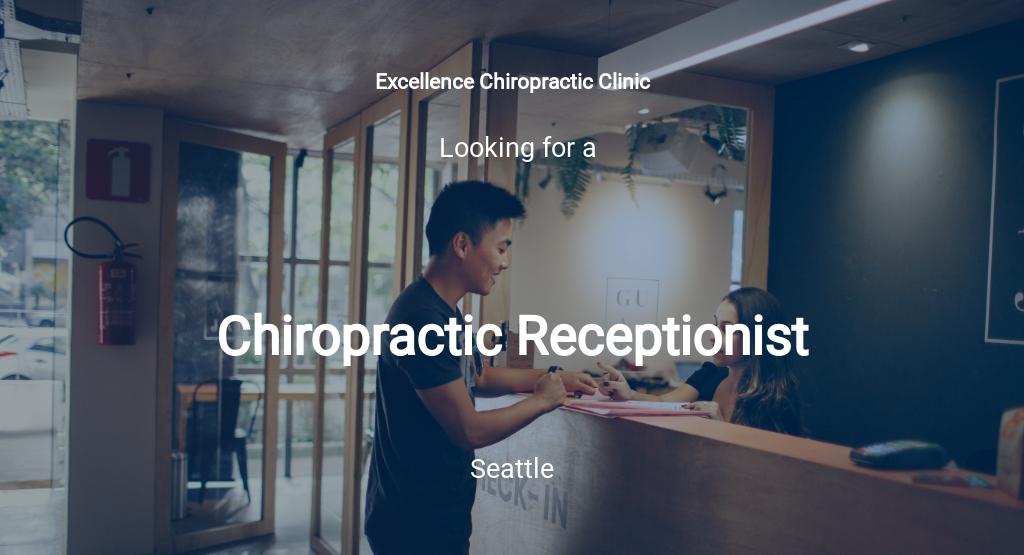 Chiropractic Receptionist Job Description Template