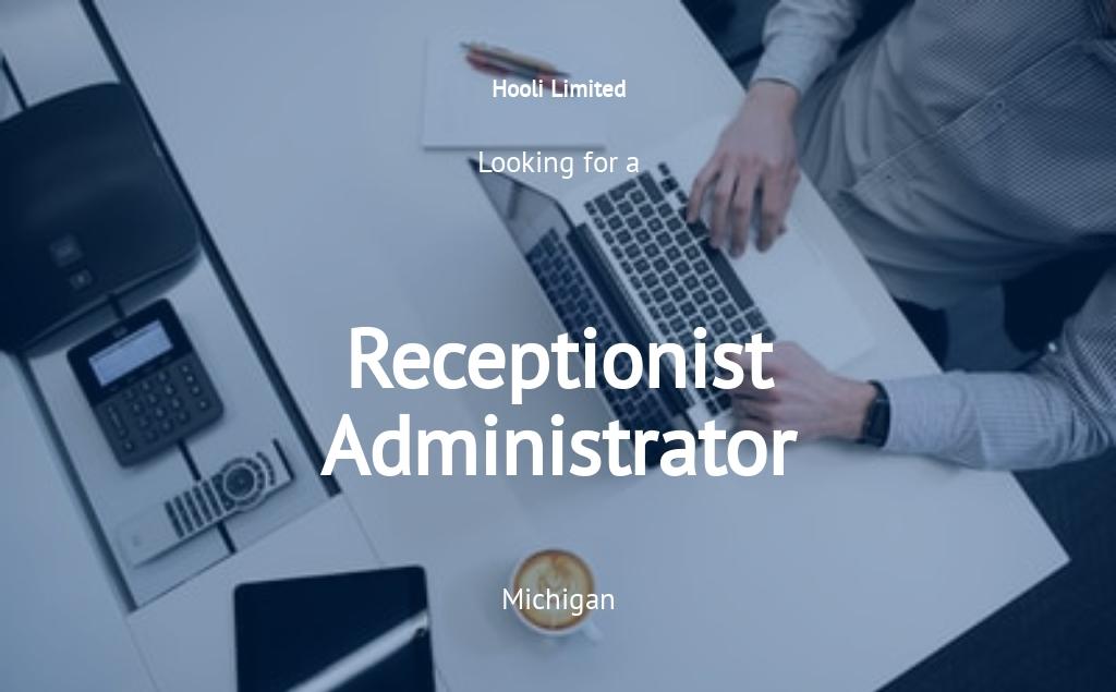 Receptionist Administrator Job Ad/Description Template