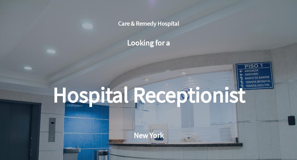 Hospital Receptionist Job Ad/Description Template
