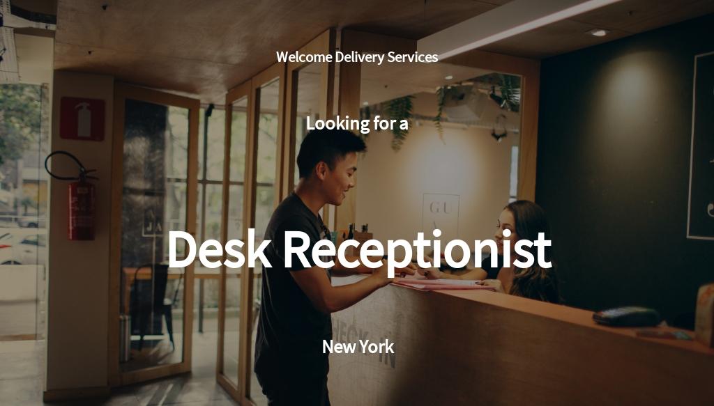 Desk Receptionist Job Ad/Description Template