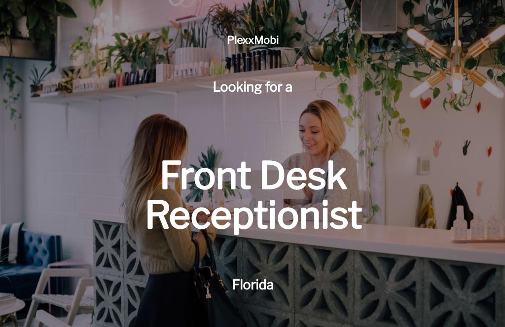 Front Desk Receptionist Job Description Template