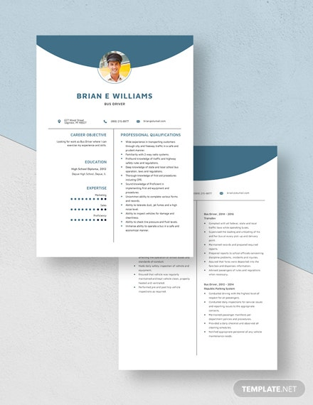 Bus Driver Resume Download