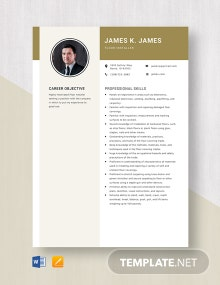 Floor Installer Resume Template