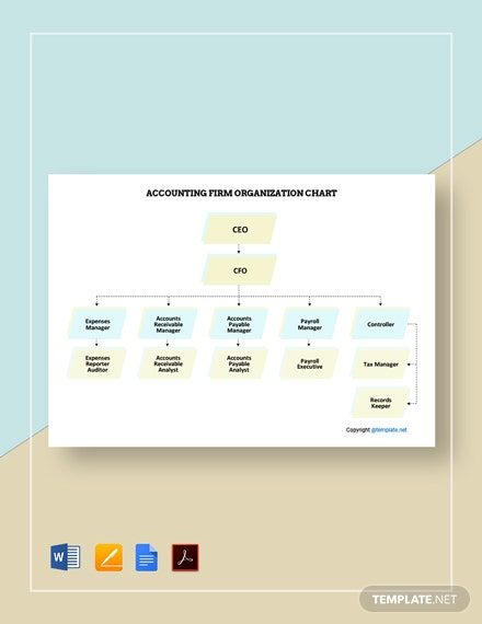 Free Accounting Firm Organizational Chart Template