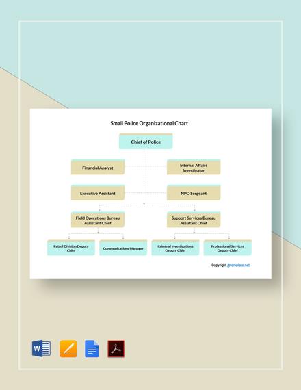 Free Small Police Organizational Chart Template