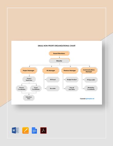 Free Small Non Profit Organizational Chart Template