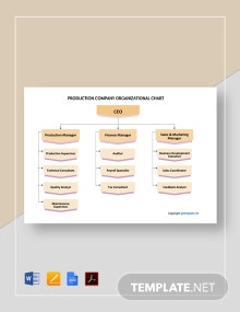 Free Production Company Organizational Chart Template
