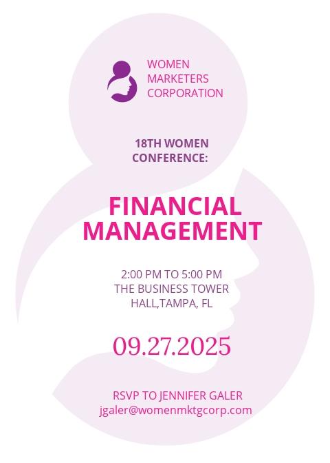 Women's Conference Invitation Template