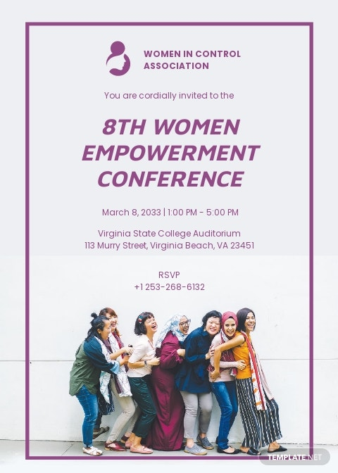 Modern Womens Conference Invitation Template