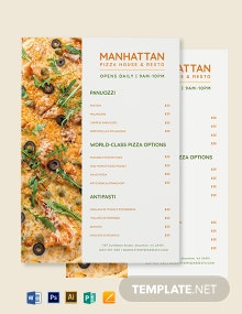Digital Menu Board Template