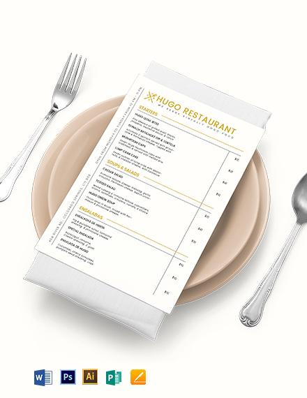 Food Menu Board Template