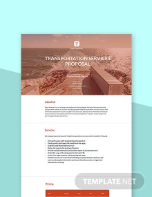 Free Transportation Business Proposal Template