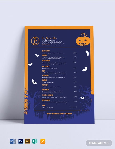 halloween cocktail menu template us 1x