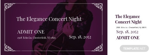 Elegant Concert Ticket Template