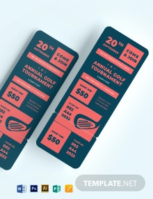 Charity Golf Tournament Ticket Template