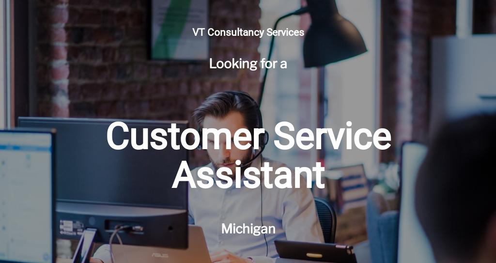 Customer Service Assistant Job Description Template